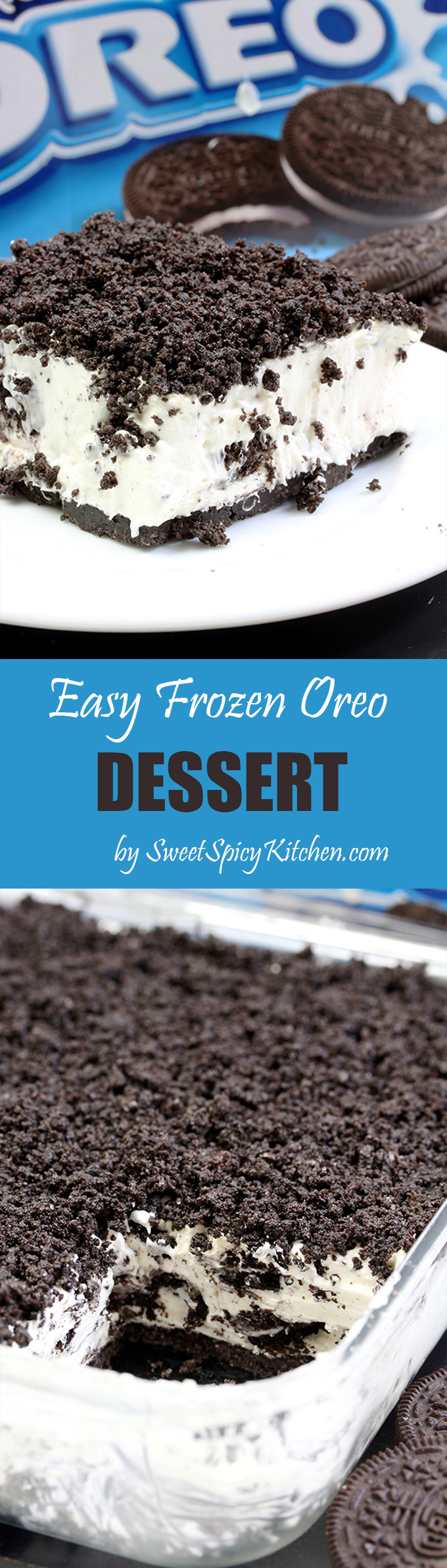 This Easy Frozen Oreo Dessert is light, frozen summer dessert… so easy to prepare – just perfect for Oreo cookie fans. One of my favorite frozen desserts.
