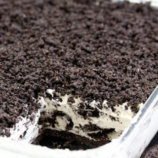 This Easy Frozen Oreo Dessert is light, frozen summer dessert… so easy to prepare – just perfect for Oreo cookie fans. The first layer is made of Oreo cookies and butter, than comes frozen layer of cream cheese, sugar, heavy cream, condensed milk, vanilla and crushed Oreo cookies with Oreo crumbs on the top. Yummy!!!