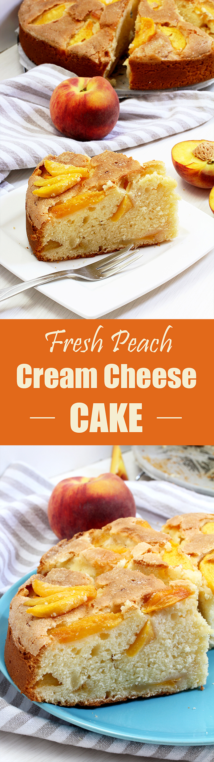 Fresh Peach Cream Cheese Cake