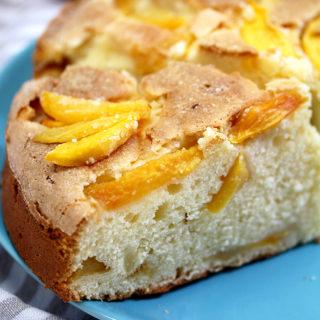 Fresh Peach Cream Cheese Cake