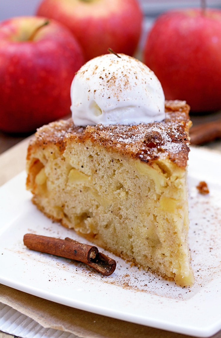 Easy Cinnamon Sugar Apple Cake