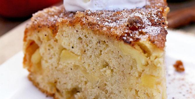 Easy Cinnamon Sugar Apple Cake