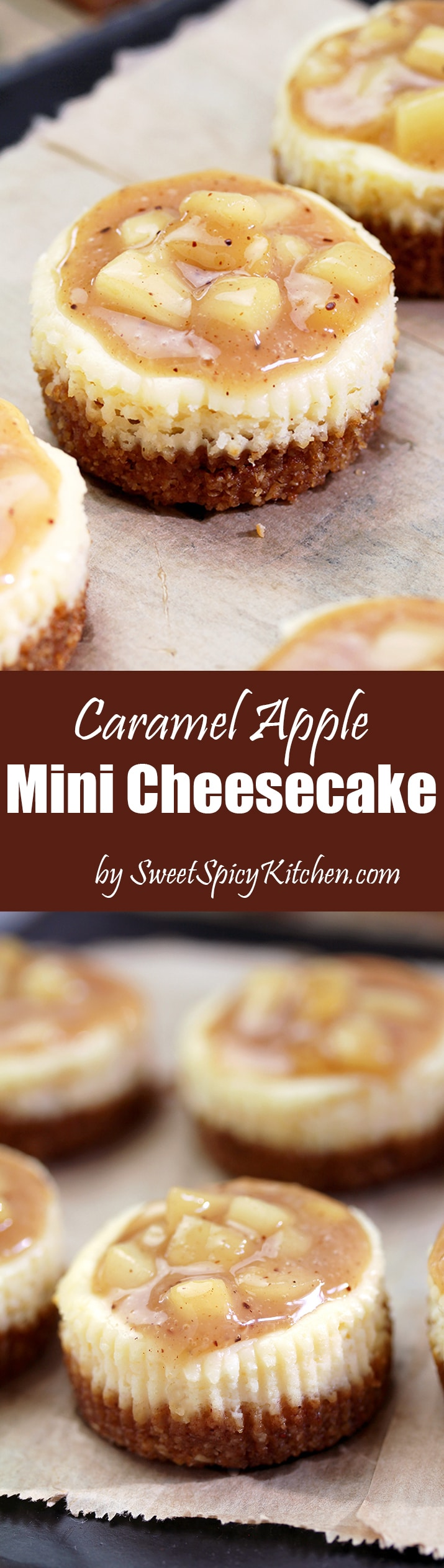 Caramel Apple Mini Cheesecake