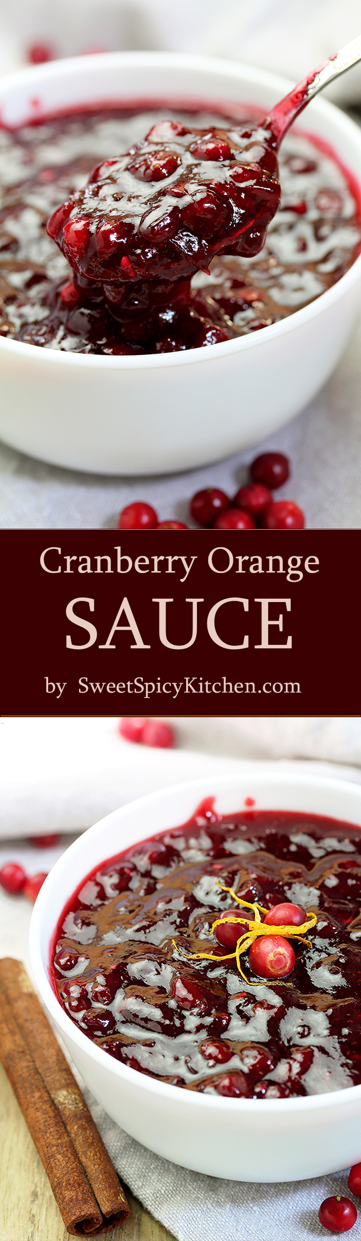Here is the recipe for my special Cranberry Orange Sauce. This homemade sauce is so quick and easy to make. You'll love it with a piece of turkey for Thanksgiving