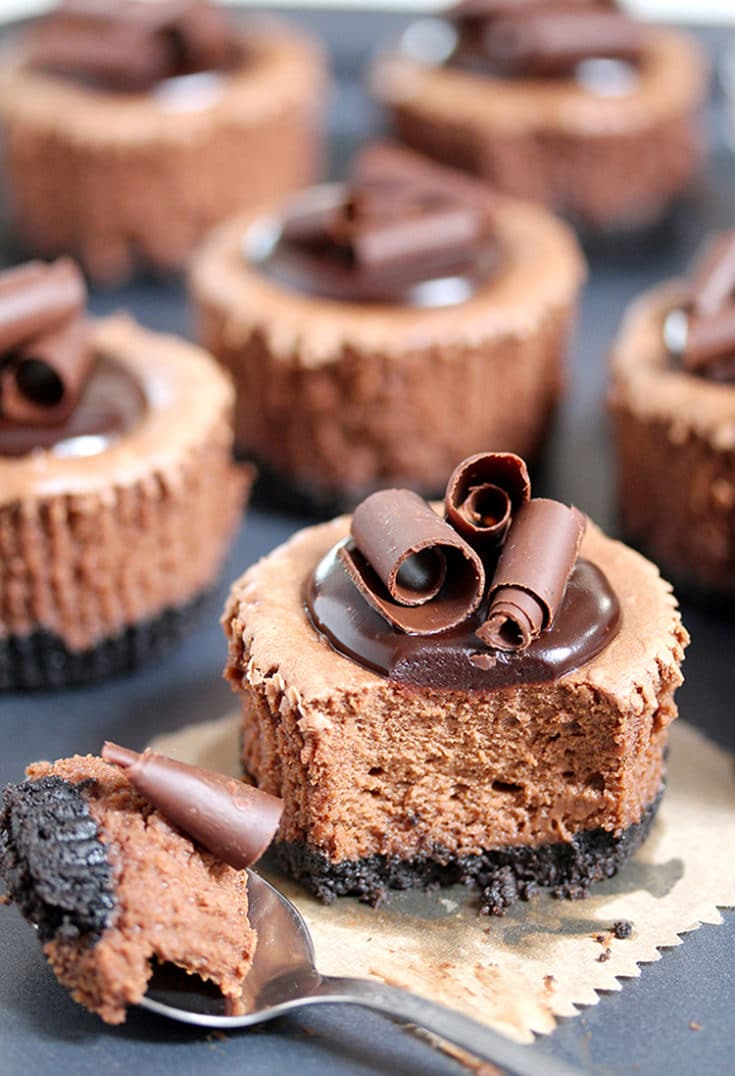Chocolate Mini Cheesecake with Oreo Crust