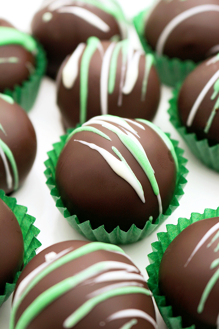 Mint Oreo Chocolate Truffles
