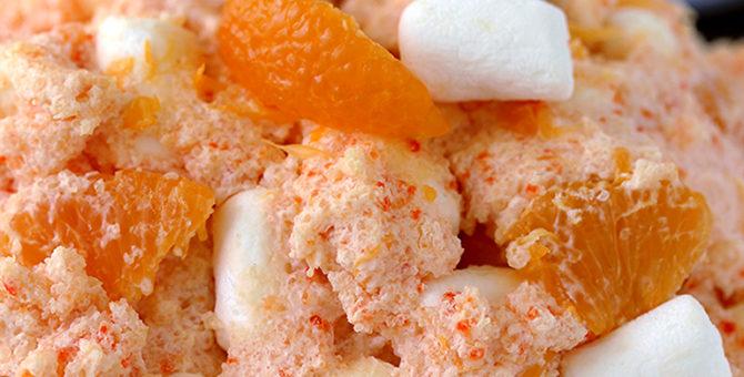 Creamsicle Orange Cheesecake Fluff Salad