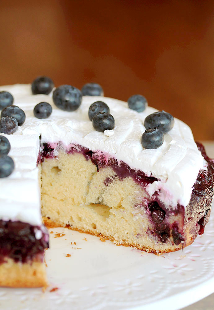 Easy Homemade Blueberry Upside Down Cake is incredibly moist and flavorful dessert, but it could be great breakfast, too