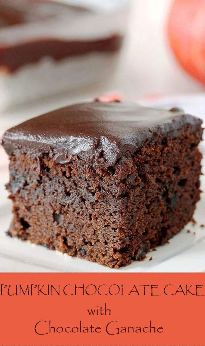 Easy Chocolate Pumpkin Cake With Chocolate Ganache