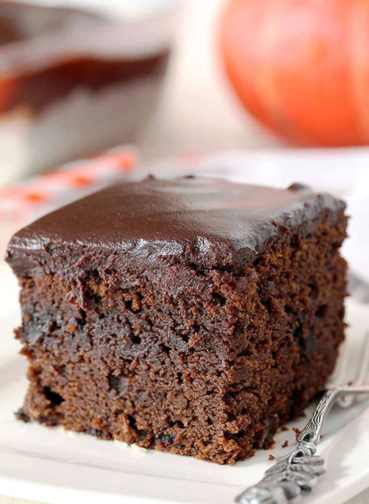 Easy Chocolate Pumpkin Cake