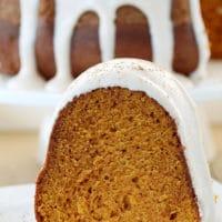 Pumpkin Bundt Cake with Cinnamon Cream Cheese Frosting