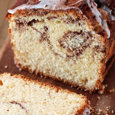 You can find the recipe for our favorite Cinnamon Sugar Swirl Bread, here. This perfectly soft and moist bread is made of simple ingredients that can be found in every kitchen and it's as simple as making a swirl out of cinnamon – sugar mixture and then drizzle it with vanilla glaze