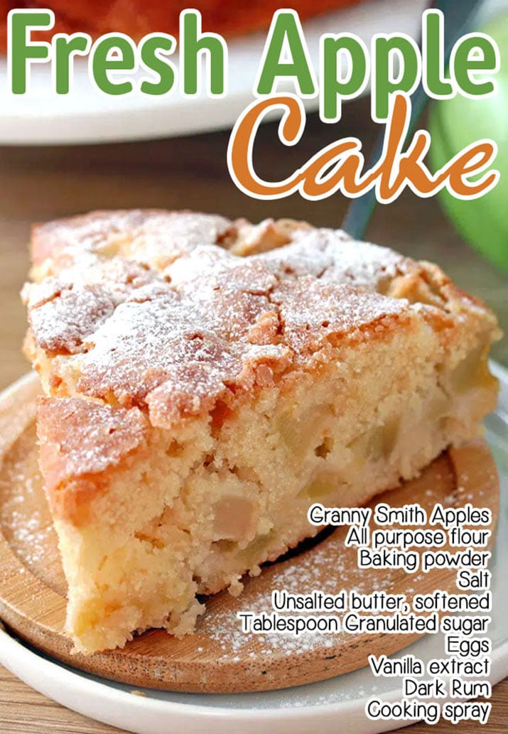 French Apple Cake – this soft and moist cake with rum and pieces of juicy apples and sugar topping is perfect for those who like simple, but delicious recipes. After hot summer time and summer treats, it is time to move to fall recipes and apples are the first thing that comes to my mind when I think about early fall.