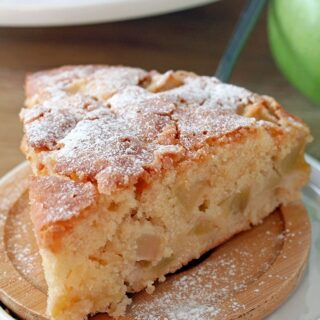 French Apple Cake – this soft and moist cake with rum and pieces of juicy apples and sugar topping is perfect for those who like simple, but delicious recipes.